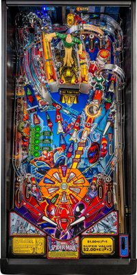 Stern pinball Spiderman 2016 playfield.JPG